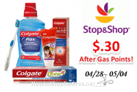 Colgate Toothbrush, Toothpaste or Mouthwash only $.30 at Stop & Shop After Gas Points!