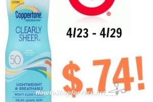 Coppertone Clearly Sheer Spray Only $.74 at Target! 4/23 – 4/29