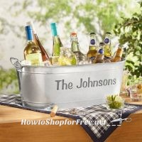 Personalized Galvanized Beverage Tub UNDER $20! ~Perfect for the Season!