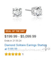 14k Gold Diamond Studs, as low as $200! ~Today Only