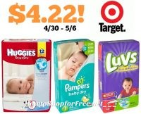 Jumbo Pack Diapers only $4.22 at Target! 4/30 – 5/6