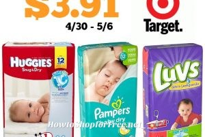 Jumbo Pack Diapers only $3.91 at Target! 4/30 – 5/6