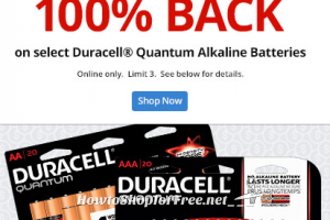 FREE Duracell® Quantum Batteries! ~100% back in Office Depot Rewards!