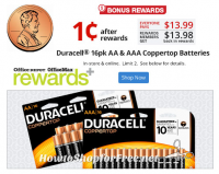16ct. Duracell Batteries for 01¢ after Rewards! *HOT*