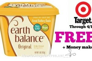 FREE + Money Maker on Earth Balance Buttery Spreads at Target through 4/12