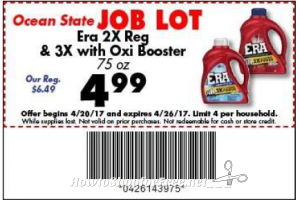 $4.49 Era 2X or 3X at Job Lot this week! (20-26)