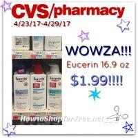 WOW Eucerin Body Lotion(16.9oz) $1.99 at CVS (4/23/17-4/29/17)