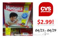 Huggies Diapers as low as $2.99 at CVS!