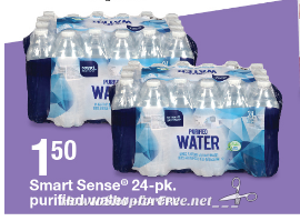 $1.36 Smart Sense Water 24pk with Sale Price + Kmart Coupon!