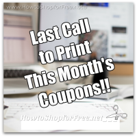Last Call to Print August Coupons Before Resets!