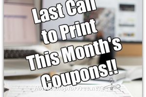 You're Running Out of Time to Print April Coupons!!