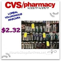 Hot Deal L'Oreal Voluminous Mascara Only $2.32 at CVS (4/23/17-4/29/17)