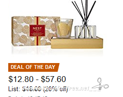 20% off Candles & Diffusers from NEST Fragrances! ~Deal of the Day