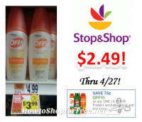 Off Family Care Repellent only $2.49 at Stop & Shop!