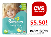 Pampers Diapers only $5.50 at CVS!