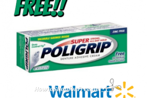 FREE Poligrip at Walmart!! ~Great Donation!