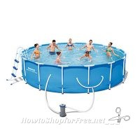 53% OFF Steel Pro™ 14'x42″ Frame Pool Set from Kmart!