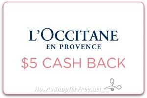 $5 Cash Back wys $35 at L'Occitane En Provence stores ~NEW!
