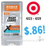 Right Guard Xtreme Defense Only $.86 at Target! 4/23 – 4/29