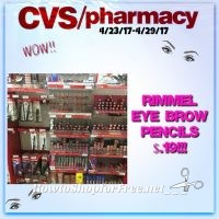 WOW Rimmel Eye Brow Pencils Only $.19 at CVS(4/23/17-4/29/17