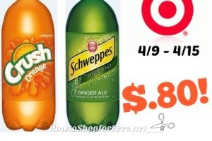 Schweppes & Crush, 2L Only $.80 at Target! 4/9 – 4/15