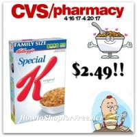 Special K Cereal Only $2.49 at CVS (4/16/17-4/20/17)