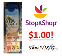Vita Coco Pure Coconut Water only $1.00 at Stop & Shop!