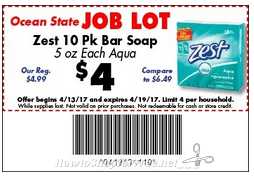 Zest Bar Soap 10pk. for $2.75 after Stacked Savings! ~OSJL