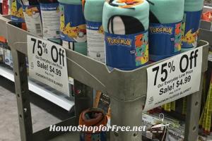 $4.99 Pokemon Throw Blanket @ Walgreen's!!