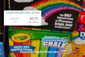 24ct. Crayola Sidewalk Chalk as low as .75!