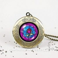 Vintage Rose Beauty and the Beast Necklace only $3.99!