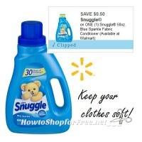 $3.77 Snuggle® Blue Sparkle Fabric Conditioner @ Walmart