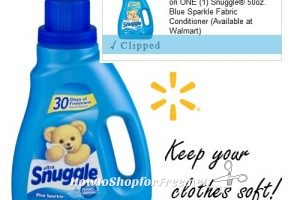 $3.77 Snuggle® Blue Sparkle Fabric Conditioner @ Walmart