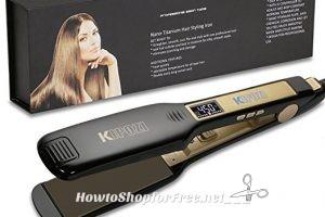 KIPOZI Professional Titanium Flat Iron 65% OFF on Lightning Deal