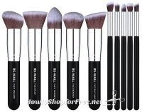 10pc. Kabuki Makeup Brush Set ONLY $4.85 with Coupon Code!