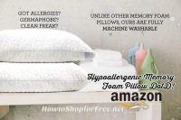 25% off Hypoallergenic Memory Foam Pillows ~Amazon DotD