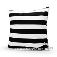 Black & White Striped Pillow Cover, $1.57 & FREE Shipping!