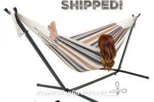 80% OFF Double Hammock with Stand + Carrying Case!