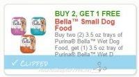 **NEW Printable Coupon** B2G1 FREE 3.5 oz tray of Purina Bella Wet Dog Food