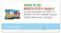 **NEW Printable Coupon** $1.00/1 BIRDS EYE Voila! Frozen Skillet Meal (Any Variety)