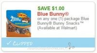 **NEW Printable Coupon** $1.00 off one Blue Bunny