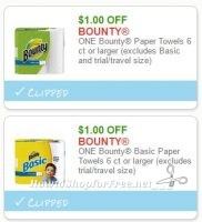 **NEW Printable Coupons** 2 Bounty Paper Towels Coupons Pre-Clipped for You!