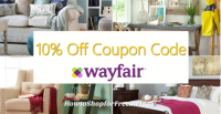 Save up to 70% Off at Wayfair and 10% Off Promo Code