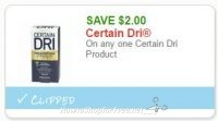 **NEW Printable Coupon** $2.00 off one Certain Dri
