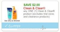 **NEW Printable Coupon** $2.00/1 Clean & Clear