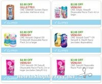 **NEW Printable Coupons** WOW! 6 Gillette/Venus/Daisy Razor Coupons Pre-Clipped for You!