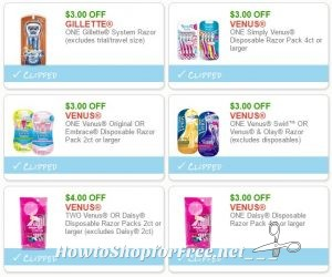 picture regarding Gillette Printable Coupon called Contemporary Printable Discount codes** WOW! 6 Gillette/Venus/Daisy Razor