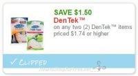 **NEW Printable Coupon** $1.50/2 DenTek™ items priced $1.74 or higher