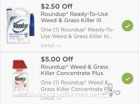 Printable coupon for Roundup
