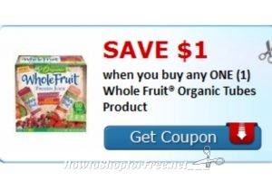 WOOHOO print this coupon for this Future sales !!!! Summer is just about here!!!! $1/1 Whole Fruit organic🍉 Tube products!!